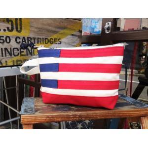 バトラーバーナーセイルズ アメリカンフラッグポーチ Butler Verner Sails アメカジ 星条旗|buddy-us-clothing