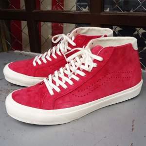 VANS Court Mid DX (Pig Suede)Chilli Pepper/USA企画 バンズ スエード ミッド メンズ USA 赤 RED レッド|buddy-us-clothing