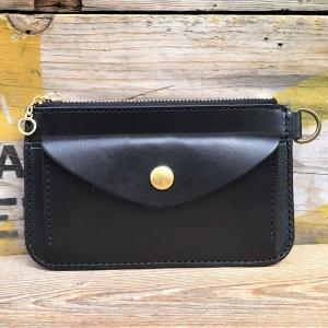 小銭入れ メンズ コインケース 財布 ウォレット BUDDY オリジナル small coin purse wallet 栃木レザー 本革 レザーウォレット ブラック 黒 BLACK|buddy-us-clothing
