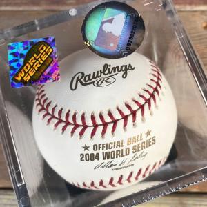 Rawlings オフィシャルボール 04 ワールドシリーズ OFFICIAL BALL 2004 WORLD SERIES ローリングス レッドソックス セントルイスカージルズ|buddy-us-clothing