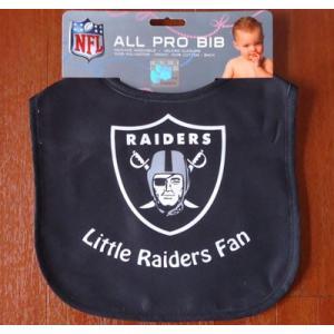 NFL ALL PRO BIB/RAIDERS アメリカンフットボール レイダース よだれかけ/スタイ Litte Raiders Fan|buddy-us-clothing