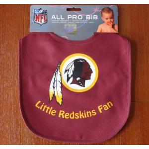 NFL ALL PRO BIB/REDSKINS アメリカンフットボール レッドスキンズ よだれかけ/スタイ Little Redskins Fan|buddy-us-clothing