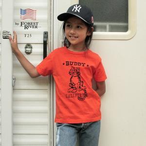 アメカジ キッズ Tシャツ BUDDY オリジナル SPRING FORD KID'S Tシャツ(CALIFORNIA TIGER)  子供  両面プリント タイガー トラ|buddy-us-clothing