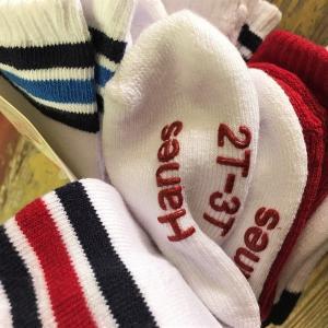 ヘインズ キッズ ベビー ソックス Hanes KIDS SOCKS 2T-3T(12-15cm) 4T-5T (15-18cm)子供用靴下 6pairs Baby|buddy-us-clothing