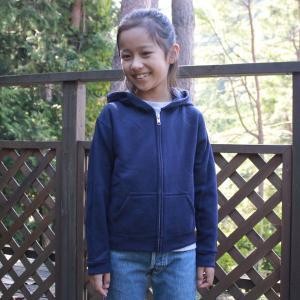 ヘインズ キッズ フード付き フルジップ 無地 パーカー Hanes US企画 輸入品 ネイビー NAVY Sサイズ(6) 120~130 アメカジ Kids 裏起毛 フーディー hoodie|buddy-us-clothing