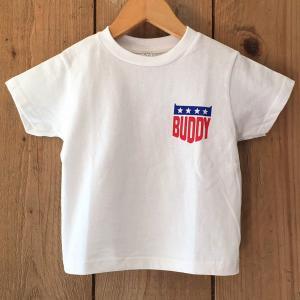 アメカジ キッズ BUDDY オリジナルデザイン STARS & STRIPES OP Tシャツ KID'S 子供服 星条旗柄 ワンポイント 親子 お揃い|buddy-us-clothing