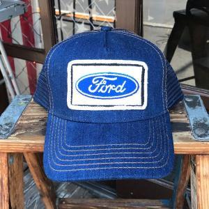 フォード FORD BUDDY オリジナル・ワッペン付きデニムキャップ FORD USA アメ車 OTTO オットー ベースボールキャップ|buddy-us-clothing