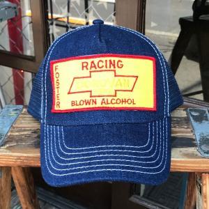 シボレーレーシング CHEVROLET・FOSTER RACING BLOWN ALCOHOL USA BUDDY オリジナル・ワッペン付きデニムキャップ アメ車 OTTO オットーキャップ|buddy-us-clothing