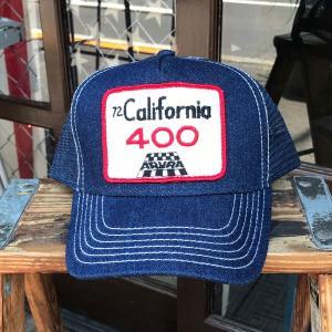 カリフォルニア 72 California 400 ARVRA BUDDY オリジナル・ワッペン付きデニムキャップ OTTO オットー アメ車 チェッカー|buddy-us-clothing