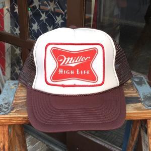 ミラービール Miller HIGH LIFE beer BUDDY オリジナル・ワッペン付きメッシュキャップ OTTO オットー ベースボールキャップ アメリカ ビール|buddy-us-clothing