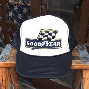 グッドイヤー GOOD YEAR チェッカーフラッグ BUDDY オリジナル・ワッペン付きメッシュキャップ OTTO オットー ベースボールキャップ アメリカ|buddy-us-clothing