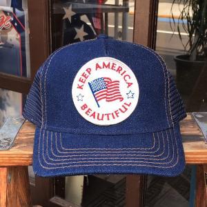 星条旗 KEEP AMERICA BEAUTIFUL BUDDY オリジナル・ワッペン付きデニムキャップ OTTO オットー デニムキャップ アメリカ US フラッグ|buddy-us-clothing