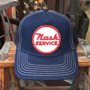 Nash SERVICE ナッシュサービス BUDDY オリジナル ワッペン付きデニムキャップ OTTO オットー ベースボールキャップ Nash Metropolitan|buddy-us-clothing