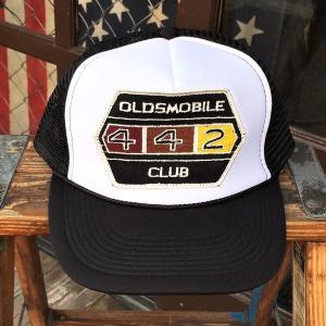 OLDSMOBILE 442 CLUB オールズモービル BUDDY オリジナル ワッペン付きメッシュキャップ OTTO オットー ベースボールキャップ アメカジ アメ車|buddy-us-clothing