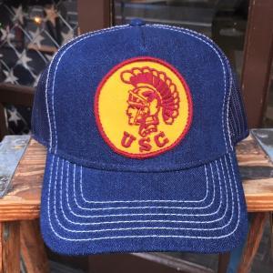 南カリフォルニア大学 トロージャンズ USC TROJANS BUDDY オリジナル ワッペン付きデニムキャップ OTTO オットー ベースボールキャップ|buddy-us-clothing