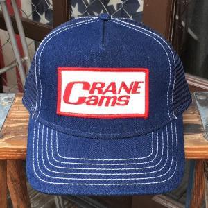 CRANE CAMS クレーン カムズ オリジナル ワッペン付きデニムキャップ NASCAR OTTO オットー ホットロッド ファニーカー ドラッグレース NHRA|buddy-us-clothing