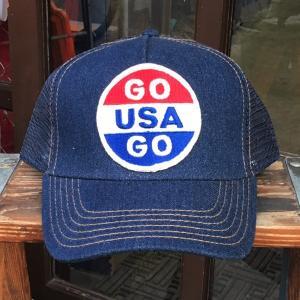 GO USA GO BUDDY オリジナル・ワッペン付きデニムキャップ OTTO オットー デニムキャップ アメリカ アメカジ|buddy-us-clothing