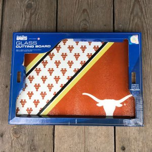 University of Texas at Austin TEXAS LONG HORNS TEMPERED GLASS CUTTING BOARD 強化ガラス カッティングボード まな板 DuckHouse SPORTS|buddy-us-clothing