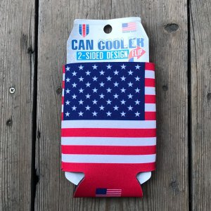 星条旗 缶 クージー CAN KOOZIE Stars and Stripes  USA FLAG 保冷・保温 アメリカ USA 350ml 缶ホルダー CAN COOLER|buddy-us-clothing