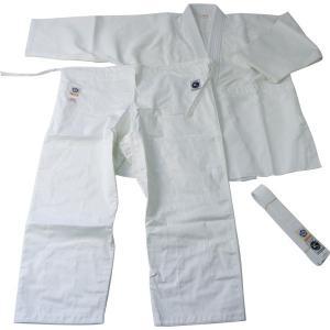 AG60W 晒合気道衣上下帯3点セット 上衣・パンツ・帯 合気道着 合気道 道着 セット|budogutozando