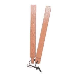 赤樫 拍子木 角型紐付|budogutozando