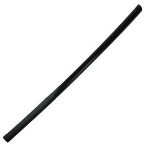 剣道 素振り用 木刀 トレーニング用木刀 本赤樫 黒塗り3.7尺素振柄巻木刀|budogutozando