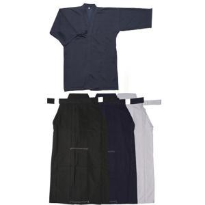 紺ジャージ剣道着 + 特製ポリエステル剣道袴 上下セット|budogutozando