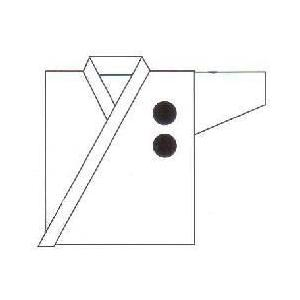 刺繍 道衣 左胸(約3.0 x 3.0cm)(1文字324円)|budogutozando
