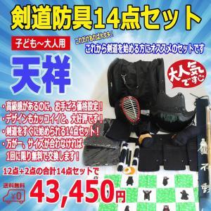 【送料無料】剣道防具14点セット 剣道スタート入門セット 刺繍無料 12点+2点【全14点】子供〜大人用 防具サイズによってデザインが異なる場合がございます。|budouenshop