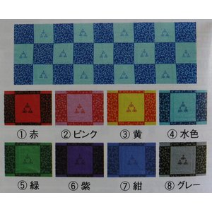 剣道 面手拭 三本菖蒲に勝ち虫 35cm×98cm 赤 ピンク 黄色 水色 緑 紫 紺 グレー|budouenshop
