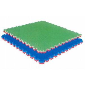 送料無料 送料込み ジョイントマット リバーシブル 厚さ4cm 両面畳柄 わさび/赤 ケース売り(5枚入) 代金引換不可|budouenshop