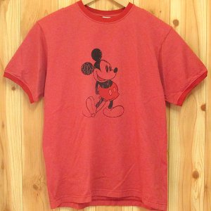 古着『ミッキー Tシャツ Stage 28 by Disney★ディズニー/Mickey』USA製 リンガー トリム S|buffalohip