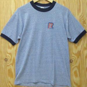 USA製古着 Tシャツ ARTEX アルテックス・アーテックス L ブルー霜降り トリム リンガー ROADWAY ビンテージ 70〜80年代|buffalohip