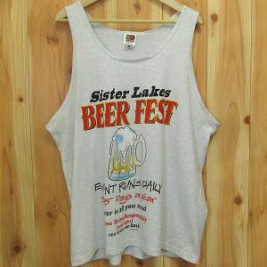 古着 タンクトップ「Sister Lakes BEER FEST」XL アドバダイジング 企業 イベント スーベニア ビール FRUIT OF THE LOOM|buffalohip