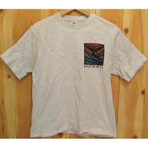 古着 Crazy Shirts Tシャツ HAWAII グレー S クレイジーシャツ アメリカ製 霜降り 杢 ハワイ バックプリント◆ポスト配送OK★|buffalohip