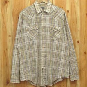 古着 ウエスタンシャツ Levi's/リーバイス XL チェック シャツ 長袖|buffalohip