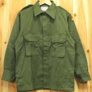 デッドストック スペイン軍 ミリタリー フィールド シャツ 未使用 実物 本物 ミリタリー シャツジャケット|buffalohip