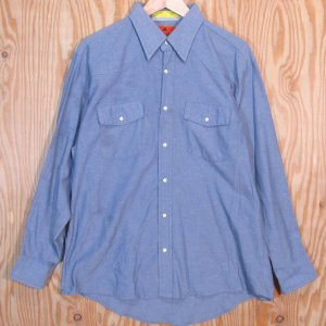 古着 ワーク ダンガリーシャツ RED KAP/レッドキャップ L-RG 長袖 ワークウェア アメリカ製 ウェスタンシャツ|buffalohip