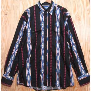 古着 ラングラー/Wrangler XL ウエスタン シャツ インディアン 民族 柄 トライブ ネイティブ アメリカン|buffalohip