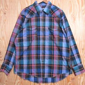 古着 Wrangler/ラングラー ウエスタン シャツ チェック柄 長袖 17.1/2-36 IRREG刻印 カウボーイカット|buffalohip