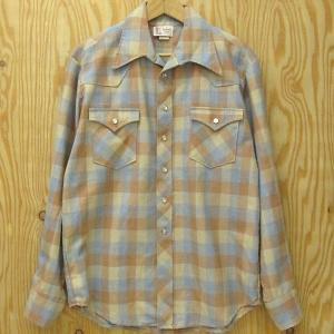 古着 ウエスタンシャツ Leiter's DESIGNER FABRIC シャツジャケット 輸入古着  チェックシャツ|buffalohip