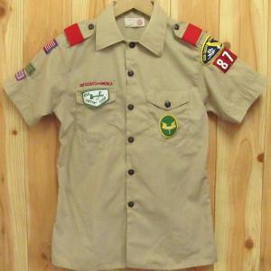 古着 ボーイスカウト 半袖シャツ BSA 80年代 16 BOY SCOUTS OF AMERICA|buffalohip