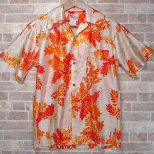 未着用 ビンテージ アロハ シャツ Tiare HAWAII  古銭ボタン 襟袋とじ S 古着 ヴィンテージ ハワイ 60〜70年代 デッドストック|buffalohip