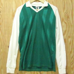 レア古着 西ドイツ製 ゲームシャツ MOUCHE 長袖 Tシャツ サッカー Made in WEST-GERANY ビンテージ ユーロ古着|buffalohip