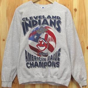スウェット STARTER INDIANS/インディアンズ M 古着 CLEVELAND INDIANS 1995CHAMPIONS MLB アメリカ製 トレーナー|buffalohip