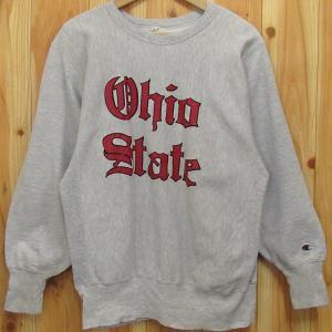 チャンピオン『リバースウィーブ/Reverse Weave』オハイオ州 OHIO STATE 刺繍タグ スウェット トレーナー 55cm Champion|buffalohip