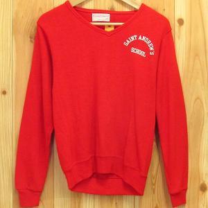 USA製 古着 スクール ニット Vネック セーター S  SAINT ANDREW'S SCHOOL/セント・アンドリューズ・スクール 70' カレッジ ニット|buffalohip