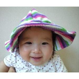 UVカットベビーハット(春夏用帽子・L〜48cm)赤ちゃんの紫外線対策に ...