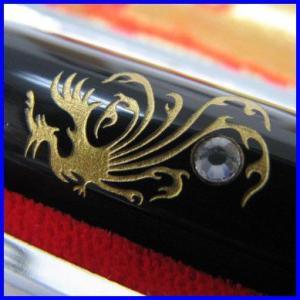 印鑑/実印:ブラックサイン印鑑(黒水牛) 15.0mm 専用ケース付き はんこ|bugyo