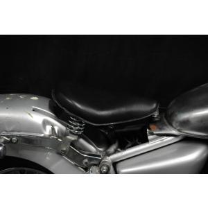 Magna50用 純正フェンダー対応ソロシートKIT スプリングタイプ (本革サドル) / マグナ50|buhinyakw